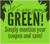 We're Going Green!