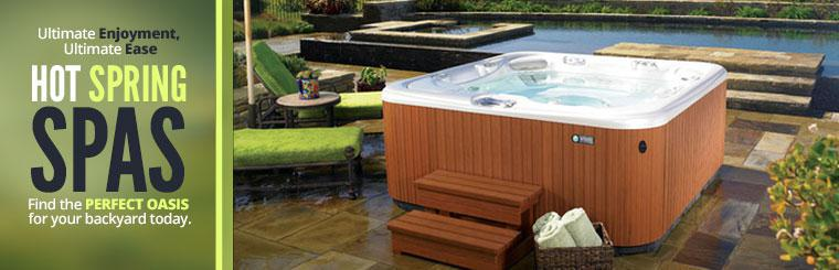 Hot Spring Spas: Find the perfect oasis for your backyard today.