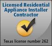 Licensed Residential Appliance Installer COntractor