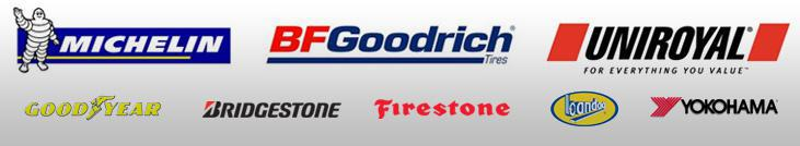 We proudly carry products from Michelin®, BFGoodrich®, Uniroyal®, Goodyear, Bridgestone, Firestone, Bandag, and Yokohama.
