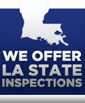 We offer LA state inspections