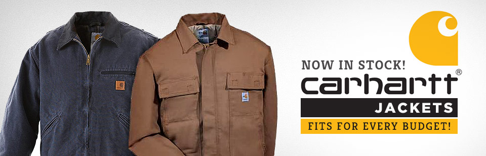 Carhartt jackets are now in stock!
