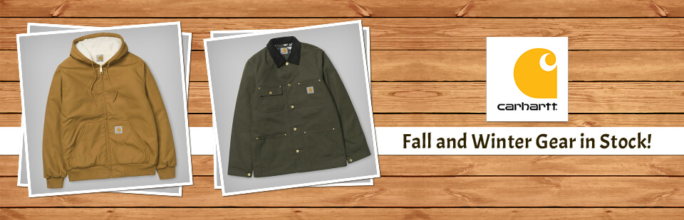 Carhartt Fall and Winter Gear in Stock