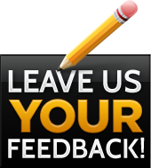 Leave us your feedback!