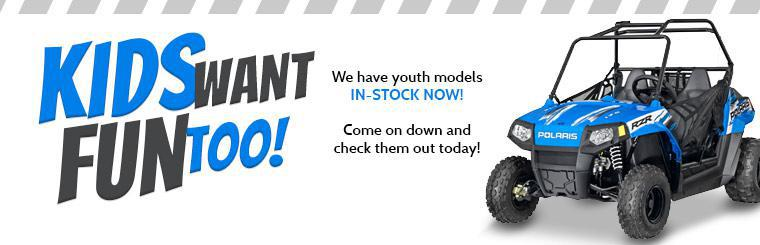 We have youth models in-stock now!
