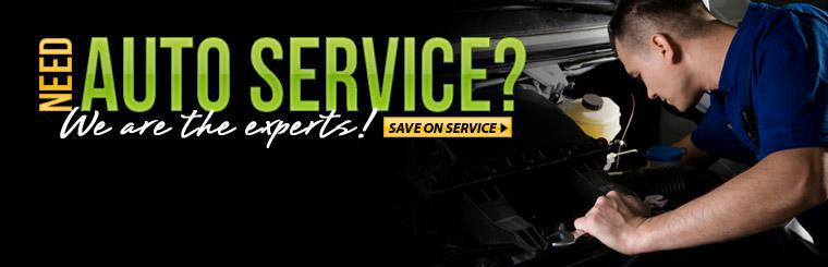 We are the auto service experts! Click here to view our services.