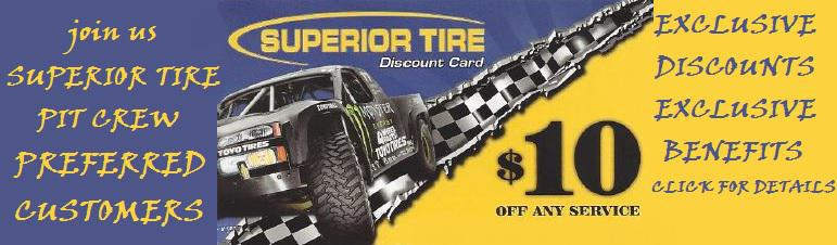 Superior Tire Pit Crew Preferred Customer Program