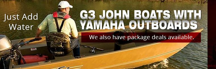 G3 John Boats with Yamaha Outboards: We also have package deals available.