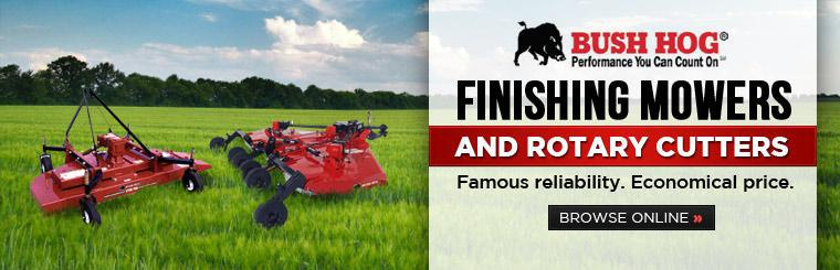 Click here to browse Bush Hog finishing mowers and rotary cutters.