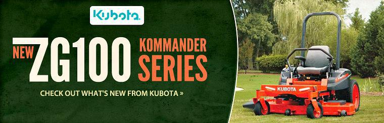 Click here to view the new Kubota ZG100 Kommander Series.