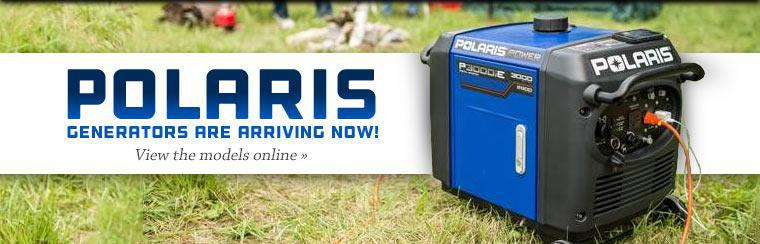 Polaris generators are arriving now! Click here to view the models online.