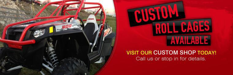 We have custom roll cages available! Visit our custom shop today, or click here to contact us.