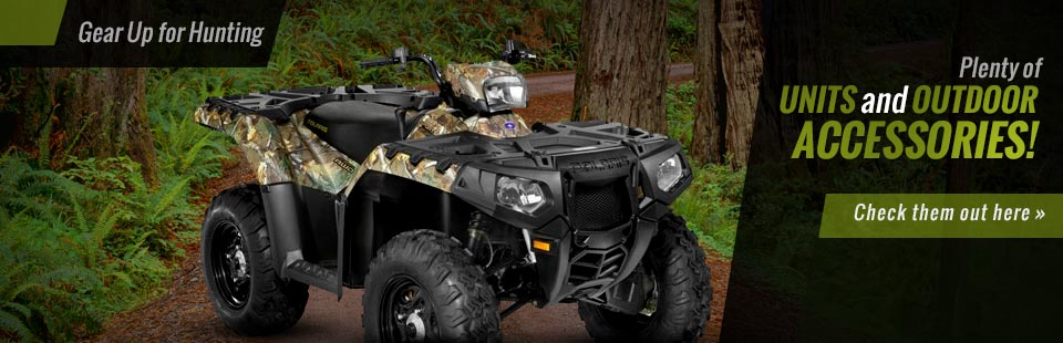 Gear up for hunting with plenty of units and outdoor accessories! Click here to check them out.
