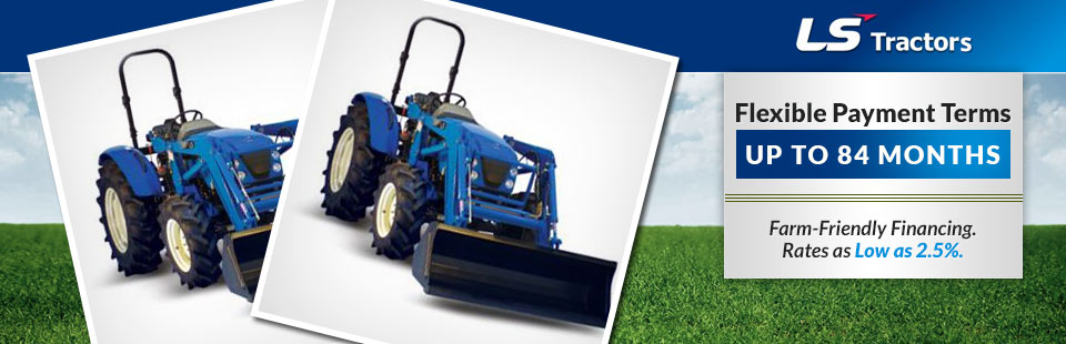 LS Tractors: Now offering farm-friendly financing! Click here to view our selection.
