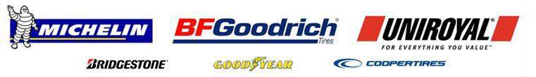 We are proud to feature tires from Michelin®, BFGoodrich®, Uniroyal®, Bridgestone, Goodyear, and Cooper!