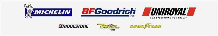 We carry products from Michelin®, BFGoodrich®, Uniroyal®, Goodyear, Bridgestone, and Delta.