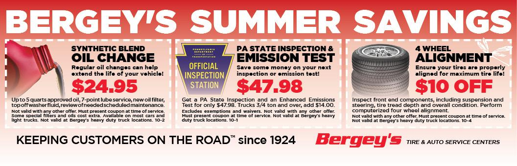 Bergey's Tire & Auto Service Coupons