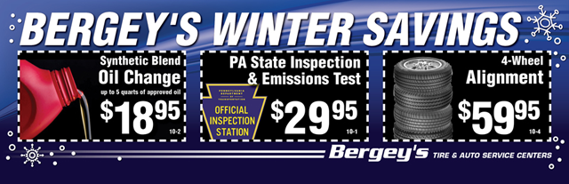 Bergey's Wintertime Savings