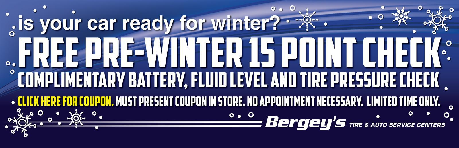 FREE Pre-Winter 15-Point Check