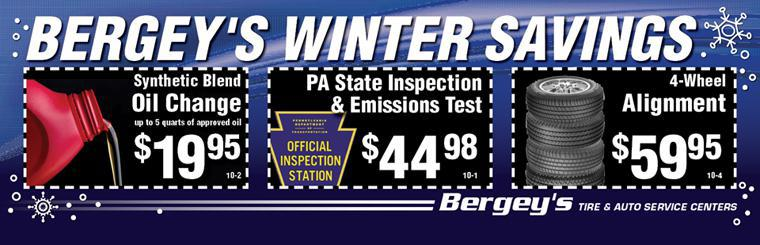 Bergey's Tire & Auto Service Winter Specials!