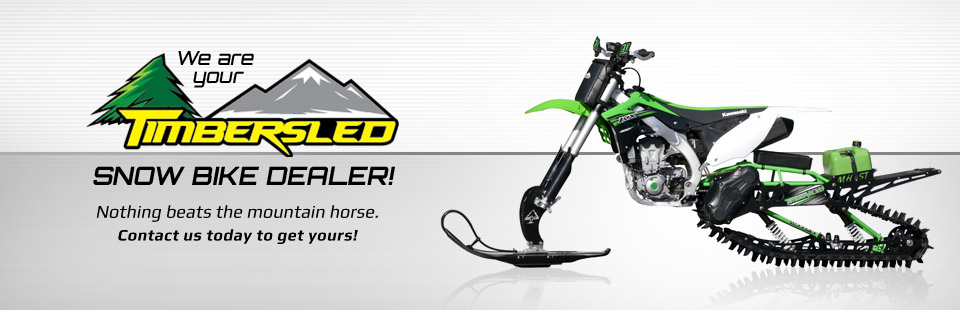 We are your Timbersled snow bike dealer! Click here to view the selection.