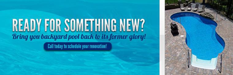 Bring you backyard pool back to its former glory! Call today to schedule your renovation!