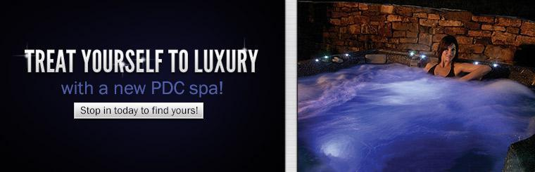 Treat yourself to luxury with a new PDC spa! Stop in today to find yours!