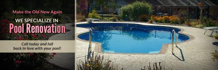 We specialize in pool renovation. Contact us today and fall back in love with your pool!