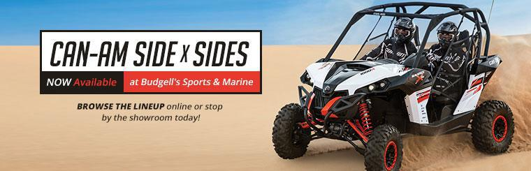 Can-Am Side x Sides Available at Budgell's Sports & Marine: Browse the lineup online or stop by the showroom today!