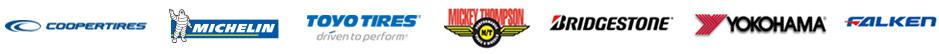 We carry products from Cooper, Michelin®, Toyo, Mickey Thompson, Bridgestone, Yokohama, and Falken.