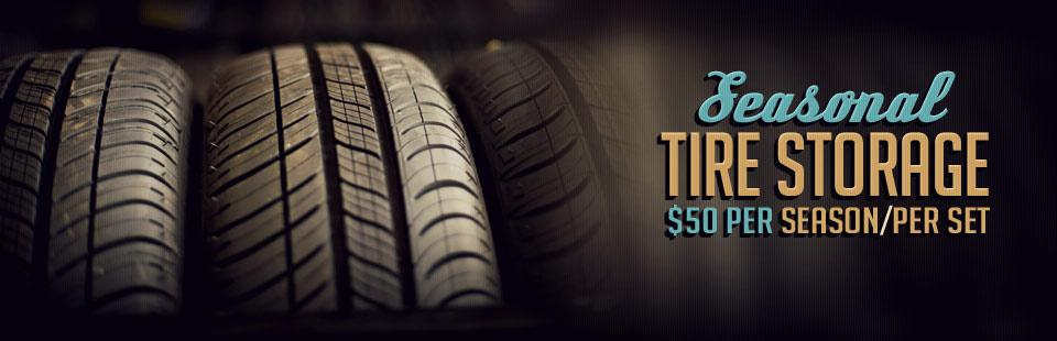 Seasonal Tire Storage: Just $50 per season/set!