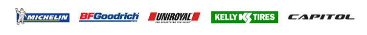 We carry products from Michelin®, BFGoodrich®, Uniroyal®, Kelly, and Capitol.