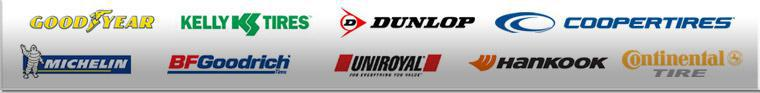 We carry products from Goodyear, Kelly, Dunlop, Cooper, Michelin®, BFGoodrich®, Uniroyal®, Hankook, and Continental.
