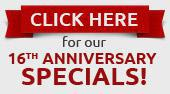 Click here for our 16th anniversary specials!