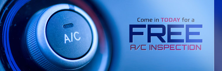 Come in today for a free A/C inspection! Contact us for details.