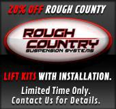 20% off Rough County Lift Kits with Installation. Limited time only. Contact us for details.