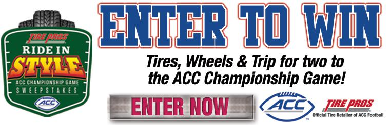 ACC Sweepstakes Ride In Style. Enter to Win.