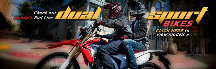 Check out Honda dual sport bikes. Click here to view the models.