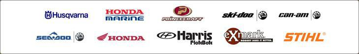 We proudly carry products from Husqvarna, Honda Marine, Princecraft, Ski-Doo, Can-Am, Sea-Doo, Honda, Harris FloteBote, Exmark, and Stihl.