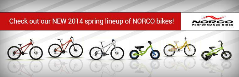Check out our new 2014 spring lineup of Norco bikes!