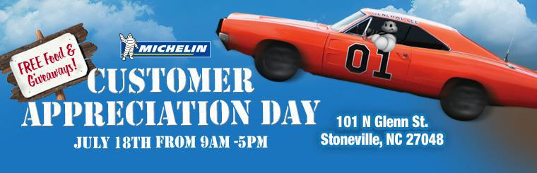 Customer Appreciation Day July 18th from 9am - 5pm