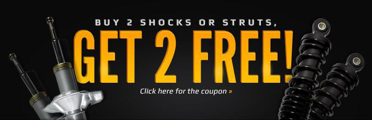 Buy 2 Shocks or Struts, Get 2 Free: Click here for the coupon.