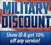 Military Discount - Show ID and get 10% off any service!