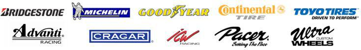 We carry products from Bridgestone, Michelin®, Goodyear, Continental, Toyo, Advanti, Cragar, ICW, Pacer, and Ultra.