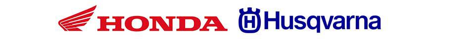 We carry products from Honda and Husqvarna.