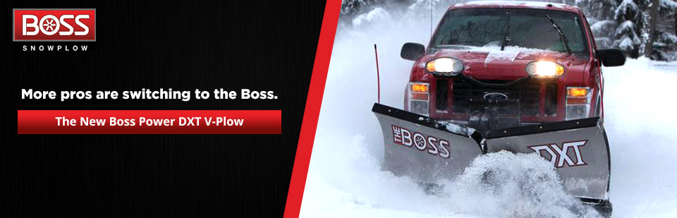 More pros are switching to the new Boss Power DXT V-Plow!