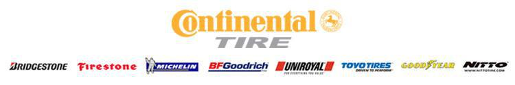 We proudly feature products from Continental, Michelin®, BFGoodrich®, Uniroyal®, Bridgestone, Firestone, Toyo, Goodyear, and Nitto.
