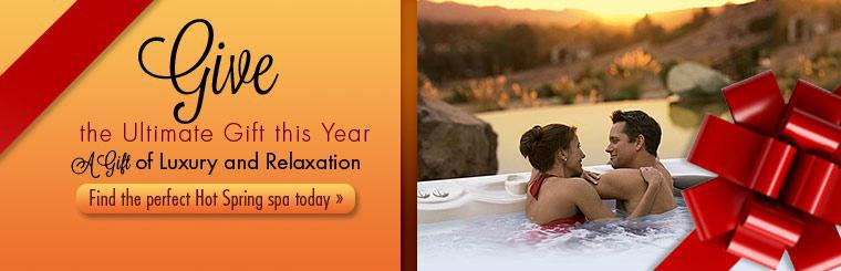 Give the ultimate gift this year. Click here to find the perfect Hot Spring spa today.