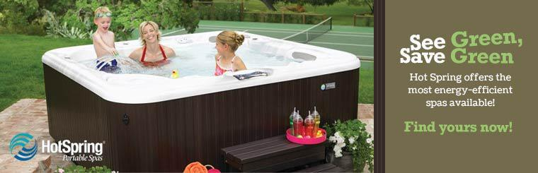 Hot Spring offers the most energy-efficient spas available!