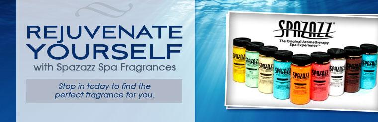 Rejuvenate yourself with Spazazz spa fragrances! Stop in today to find the perfect fragrance for you.